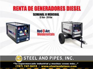 Renta de generadores Red-D'Arc, diesel, Steel and Pipes Puerto Rico