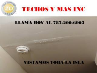 SELLADO EN FIBERGLASS. GARANTIA DE POR VIDA , TECHOS Y MAS  INC Puerto Rico