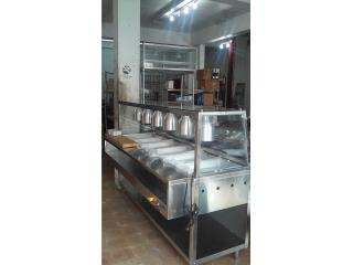 Steam table 5 rotos super extructura s/s, Promas, Inc Puerto Rico