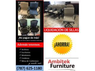 VARIEDAD DE SILLAS SECRETARIALES Y ESPERA, AMBITEK FURNITURE Puerto Rico