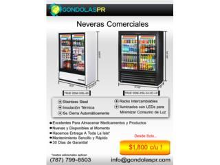 Neveras Comerciales (Check Out Coolers), Gondolas PR Puerto Rico