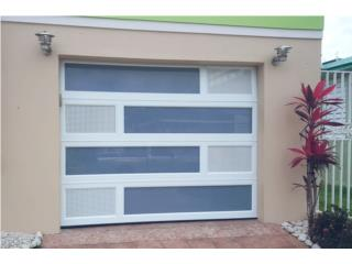 PUERTAS DE GARAJE EN ALUMINIO COMBINADAS, Elegance Garage Door's y Mas. Puerto Rico