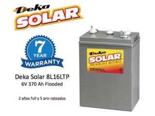 Bateria Deka Solar 8L16 6V 370Ah - *7 Años, MAXIMO SOLAR INDUSTRIES Puerto Rico