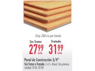 PANEL DE CONSTRUCCION 3/4, Ferreteria Ace Berrios Puerto Rico