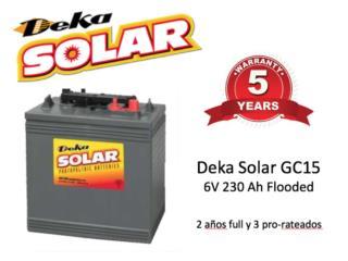 Deka Solar GC15 230Ah 6V - 5 años garantia, MAXIMO SOLAR INDUSTRIES Puerto Rico