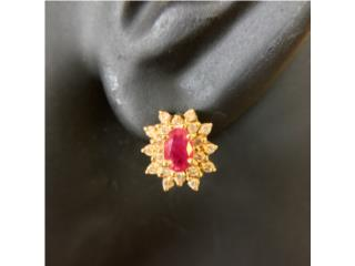 Pantallas de Rubi y Diamantes en Oro 14kt, Cashex Puerto Rico