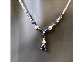 Collar de Zafiros y Diamantes en Oro 14kt, Cashex Puerto Rico