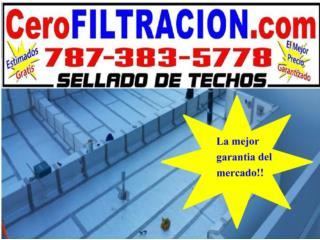 SELLADO DE TECHO, OFERTAS AREA OESTE, RPM Corp, Sellado de Techo, Tel 787-383-5778 Puerto Rico