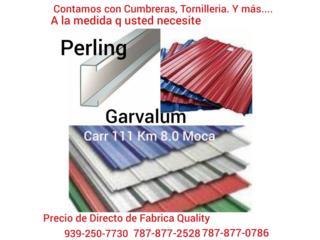 Galvalum,Perling con y sin Color., Quality Solar System 787-517-0663  Puerto Rico