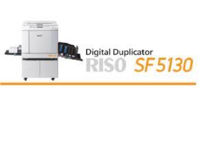Duplicadora Digital Riso SF 5130 130PPM Nueva, NATIONAL COPIER Puerto Rico