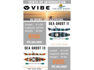 Vibe Kayak Sea Ghost , The SUP shack  Puerto Rico
