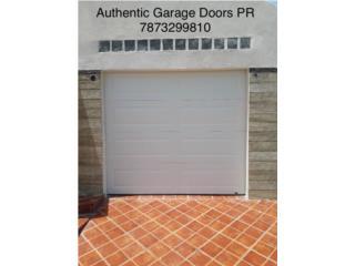 Puerta de garaje insulada sin cristal, Authentic Garage Doors PR Puerto Rico