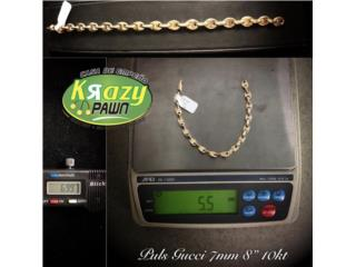 "Pulsera Gucci 7mm 8"" 10kt $255, Krazy Pawn Corp Puerto Rico"