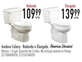 INODORO COLONY AMERICAN STANDARD BLANCO, Ferreteria Ace Berrios Puerto Rico