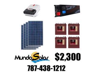 kit solar $2,300 no te quedes sin luz, Mundo Solar Puerto Rico