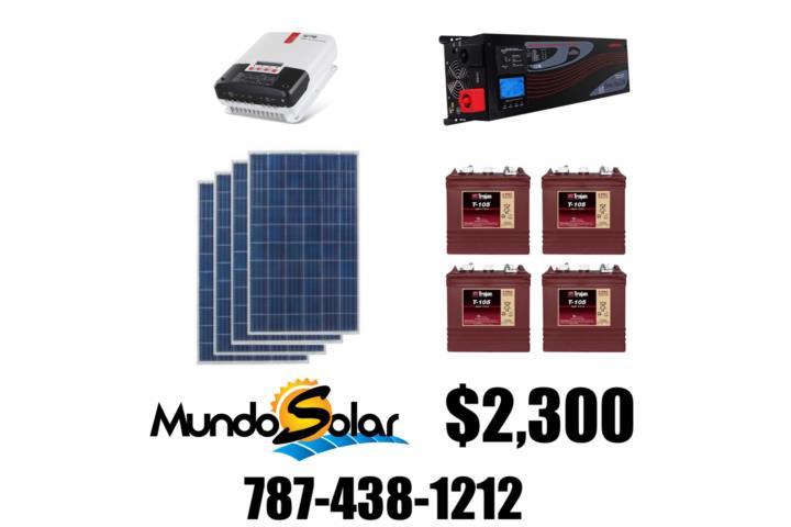 Kit Solar 2 300 No Te Quedes Sin Luz Puerto Rico