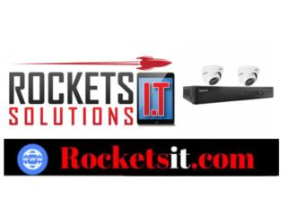 Sistema de 2 camaras 1080p instaladas, Rockets I.T Solutions Puerto Rico
