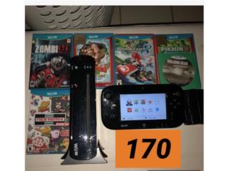 Nintendo Wii U+8 juegos+controla+acesorios, Tattoo Max Inc. Puerto Rico