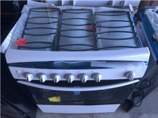 Estufa de Gas 6 Hornillas y tapa de cristal, Electro Appliance Puerto Rico