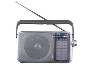 Radio AM FM portátil QFx R-24, IB STORE ibstorepr.com  (Horario Martes a Jueves) Puerto Rico
