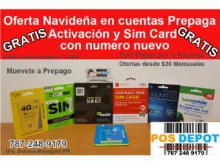 GRATIS Activación y Sim Card , POS Depot Puerto Rico