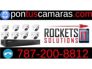 8 Camaras de Seguridad instaladas , Rockets I.T Solutions Puerto Rico