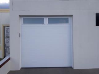 Puertas de garaje panel a rayas, Authentic Garage Doors PR Puerto Rico