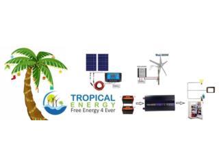 Crea Tu Kit ,Molino ,Placas e Inversor, Tropical Energy Puerto Rico