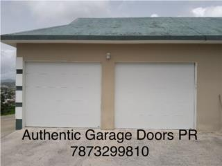 Puerta flush sin cristal, Authentic Garage Doors PR Puerto Rico