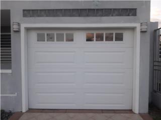 Puertas 9' × 7' Insulada cristal, Authentic Garage Doors PR Puerto Rico