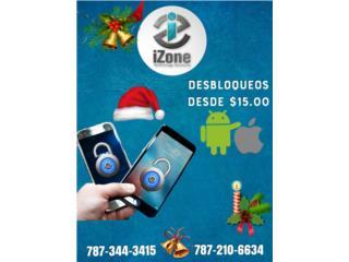 CHIPS Y CÓDIGOS DE DESBLOQUEO- IPHONE/ANDROID, iZone Technology San Juan Puerto Rico