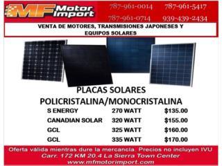 placas Solares , Mf motor import Puerto Rico
