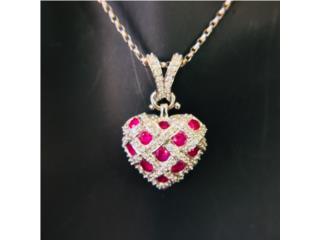 Corazón muy Fino en Oro18k Diamantes y Rubíes, Cashex Puerto Rico