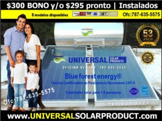 8 modelos Universal |CAL.SOL. BLUE FOREST, OFICINA CENTRAL UNIVERSAL SOLAR #TEL 787-635-5575 Puerto Rico
