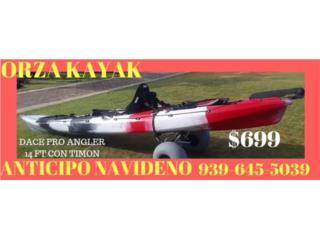 ORZA KAYAK 14 pies pesquero con timon, Orza Kayak Puerto Rico