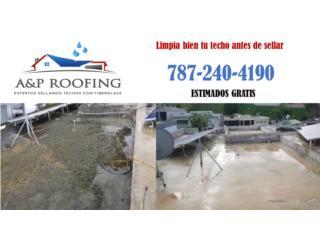 CON FIBERGLASS TU CASA NO FILTRA MAS, A&P ROOFING Puerto Rico
