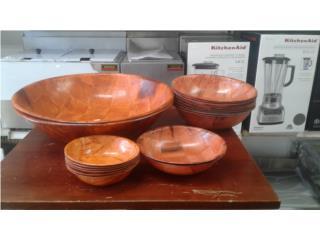 WOODEN SALAD BOWLS, Equipos Comerciales Puerto Rico