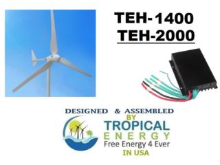 Molinos de 900 @ 5000 watts 24 y 48V, Tropical Energy Puerto Rico