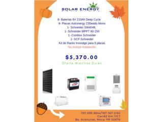 Sistema Solar con Baterias de 6v, Solar Energy Solutions LLC Puerto Rico