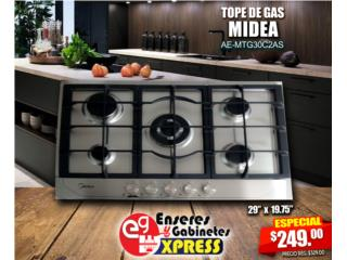 Tope de Gas Midea 5 Hornillas Stainless Steel, Mattress Discount Center Puerto Rico