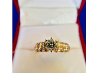 Hermoso Anillo Compromiso Oro 14k y Diamantes, Cashex Puerto Rico