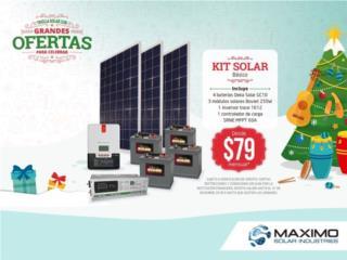 KIT SOLAR BASICO/ Placas Solares, MAXIMO SOLAR INDUSTRIES Puerto Rico