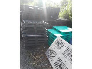 Paletas plasticas 42x48 lisas o perforadas, ANROD NATIONAL EXPORT INC. Puerto Rico