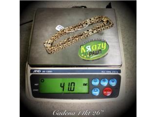 """Cadena para Hombre 14kt 26"""" $2,055, Krazy Pawn Corp Puerto Rico"""