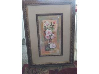 Cuadro flores $70, Ventas Puerto Rico