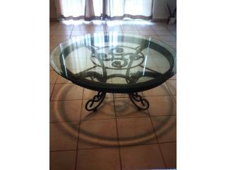 Mesa de centro hierro redonda bronce $400, Ventas Puerto Rico