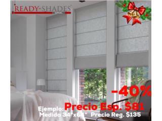 Roman Shades (Elegantes) , READY SHADES Puerto Rico