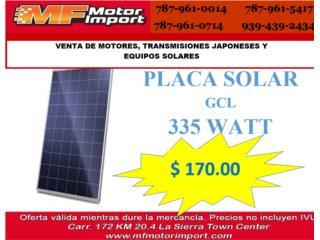 PLACA SOLAR GCL 335 WATT, Mf motor import Puerto Rico