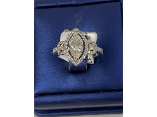 Sortija de compromiso con diamante Marquise, La Familia Casa de Empeño y Joyería-Ave Piñeiro Puerto Rico