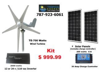KIT-Molino-Placas-Inversor- Controladores, Tropical Energy Puerto Rico